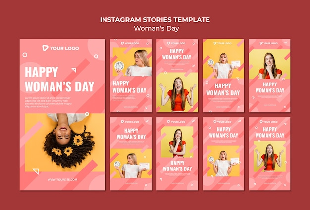 Modelo de postagens do instagram para o dia da mulher
