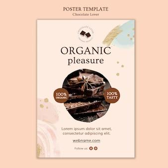 Modelo de pôster amante de chocolate