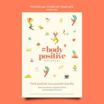 Modelo de pôster com corpo positivo