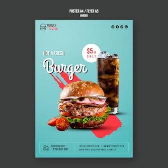 Modelo de pôster conceito de hambúrguer