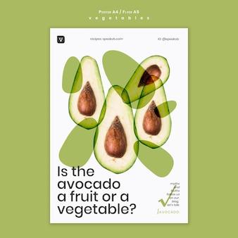 Modelo de pôster conceito de vegetais