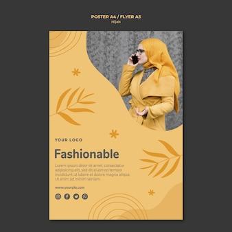 Modelo de pôster conceito hijab