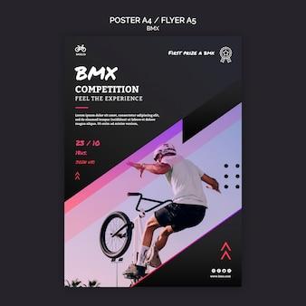 Modelo de pôster da competição bmx
