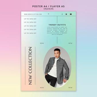 Modelo de pôster da nova coleção de moda