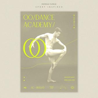 Modelo de pôster de academia de dança