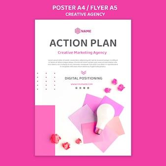 Modelo de pôster de agência criativa