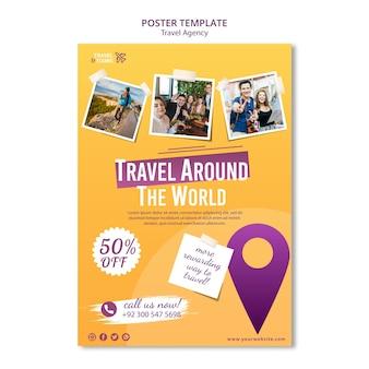 Modelo de pôster de agência de viagens