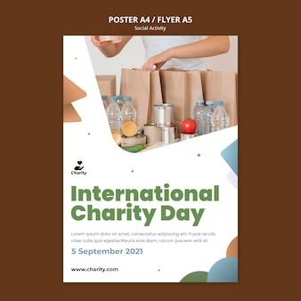 Modelo de pôster de atividades de caridade
