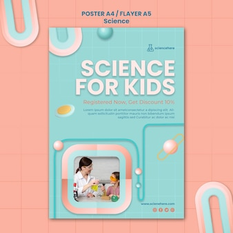 Modelo de pôster de aula de ciências