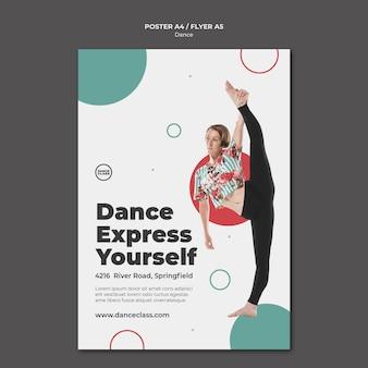 Modelo de pôster de aula de dança