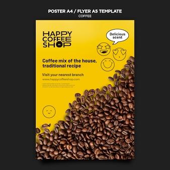 Modelo de pôster de café Psd grátis
