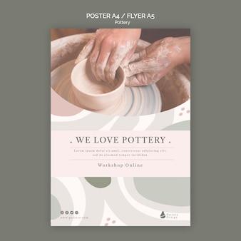 Modelo de pôster de cerâmica