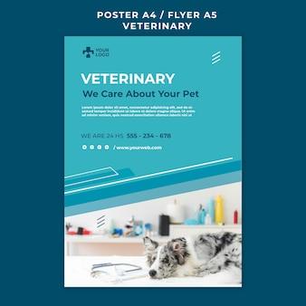 Modelo de pôster de clínica veterinária