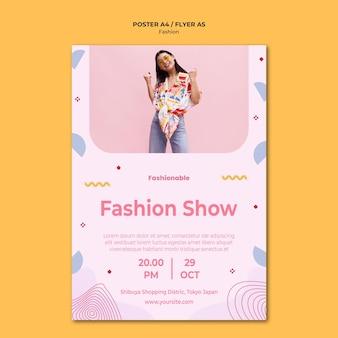 Modelo de pôster de coleção de moda