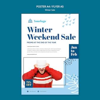 Modelo de pôster de coleção de venda de inverno