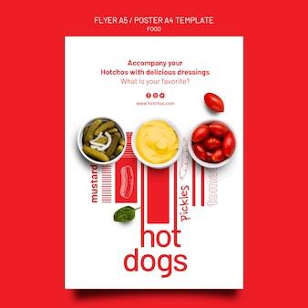 Modelo de pôster de comida e modelo de design de folheto
