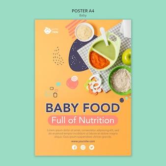 Modelo de pôster de comida para bebê