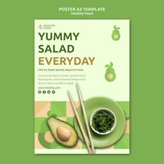 Modelo de pôster de comida saudável