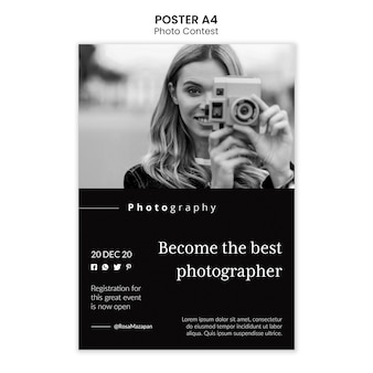 Modelo de pôster de competição de fotos