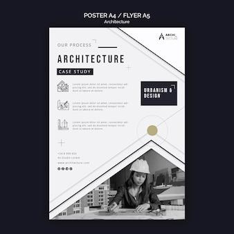 Modelo de pôster de conceito de arquitetura