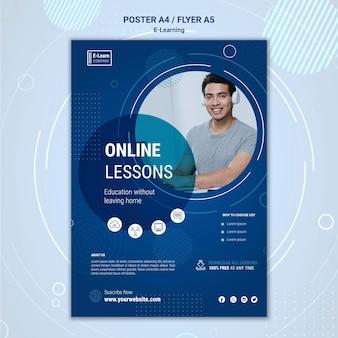 Modelo de pôster de conceito de e-learning