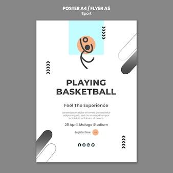 Modelo de pôster de conceito de esporte