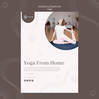 Modelo de pôster de conceito de ioga