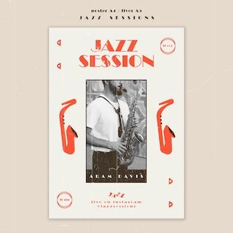 Modelo de pôster de conceito de jazz
