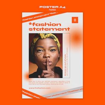 Modelo de pôster de conceito de moda