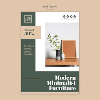 Modelo de pôster de conceito de móveis