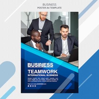 Modelo de pôster de conceito de negócio