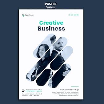 Modelo de pôster de conceito de negócios