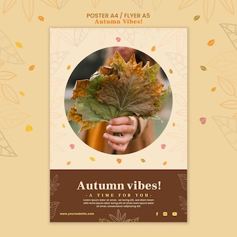Modelo de pôster de conceito de outono
