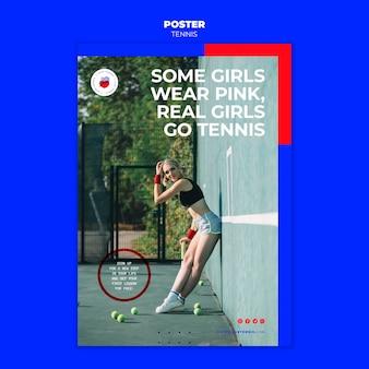 Modelo de pôster de conceito de tênis