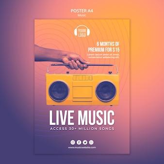 Modelo de pôster de conceito musical