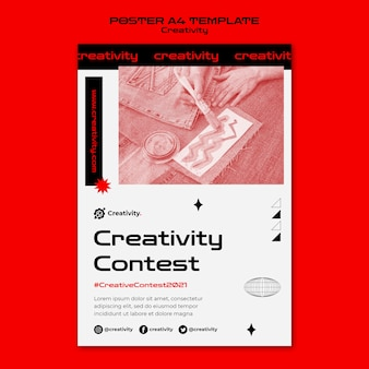 Modelo de pôster de concurso de criatividade