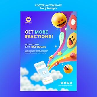 Modelo de pôster de design de emoji