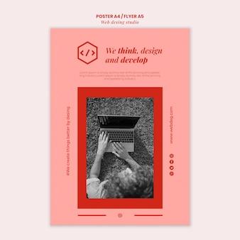 Modelo de pôster de design de estúdio web