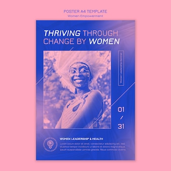 Modelo de pôster de empoderamento feminino
