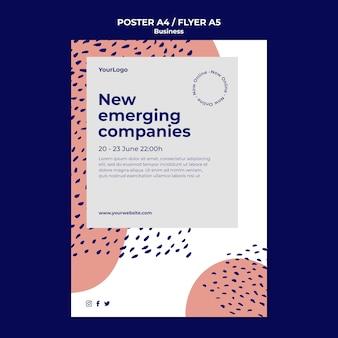 Modelo de pôster de empresas emergentes