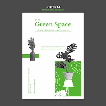 Modelo de pôster de espaço verde