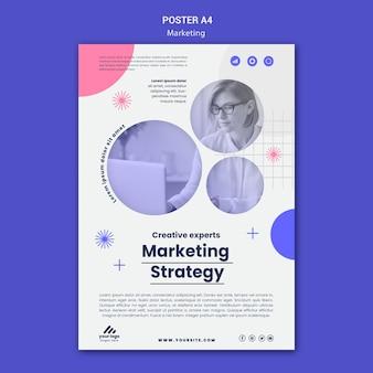 Modelo de pôster de estratégia de marketing