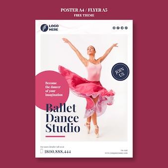 Modelo de pôster de estúdio de dança