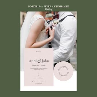Modelo de pôster de evento de casamento