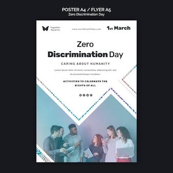 Modelo de pôster de evento de dia de discriminação zero