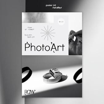 Modelo de pôster de exposição de arte