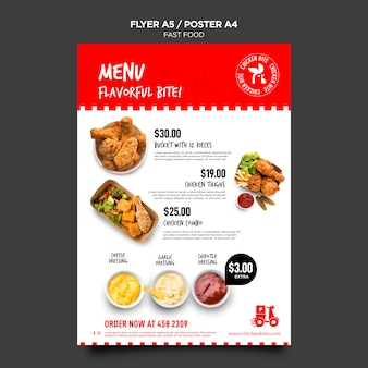 Modelo de pôster de fast food