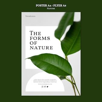 Modelo de pôster de formas de natureza