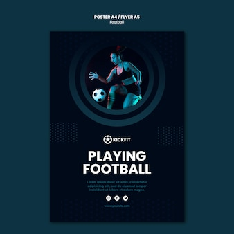 Modelo de pôster de futebol