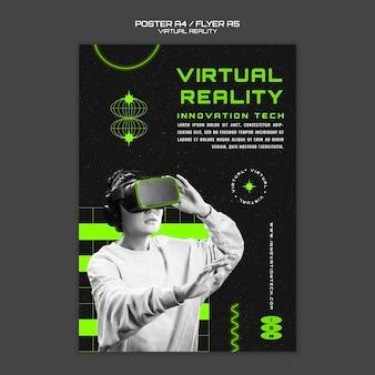 Modelo de pôster de inovação em realidade virtual